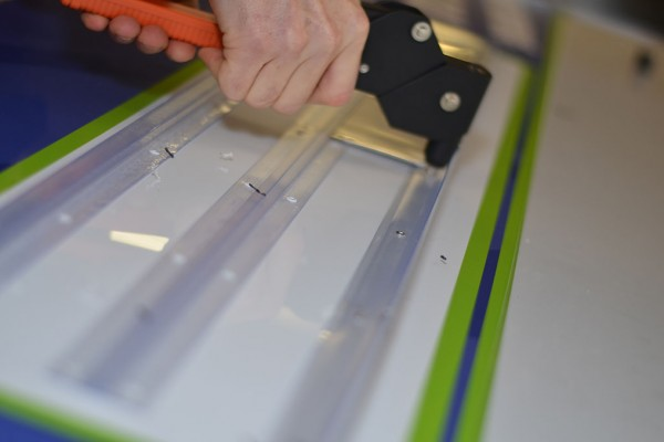 Every readerboard contains at least 30 rivets to hold securely the letter tracks in position