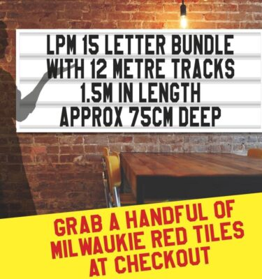 letterboard Sign kits with letters | 1 set of LPM 15 with 12 Metres of tracking. Our pre-packed bundles make buying letters and tracks even simpler.