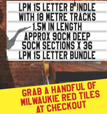 letterboard Sign kits with letters | 2 set of LPM 15 with 18 Metres of tracking. Our pre-packed bundles make buying letters and tracks even simpler.