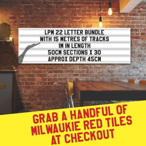 letterboard Sign kits with letters | 3 set of LPM 22 with 15 Metres of tracking. Our pre-packed bundles make buying letters and tracks even simpler.