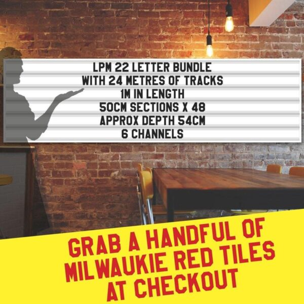 letterboard Sign kits with letters | 3 set of LPM 22 with 24 Metres of tracking. Our pre-packed bundles make buying letters and tracks even simpler.