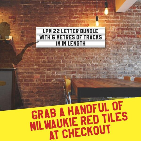 Letterboard Sign kits with letters   1 set of LPM 22 with 6 Metres of tracking