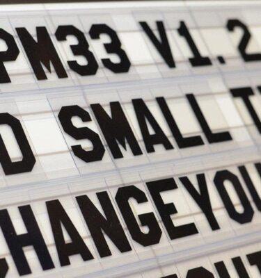 LPM 33 Tile-Rocky Font letters