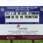 hadleigh cricket club changeable sign using plastic letters you can change