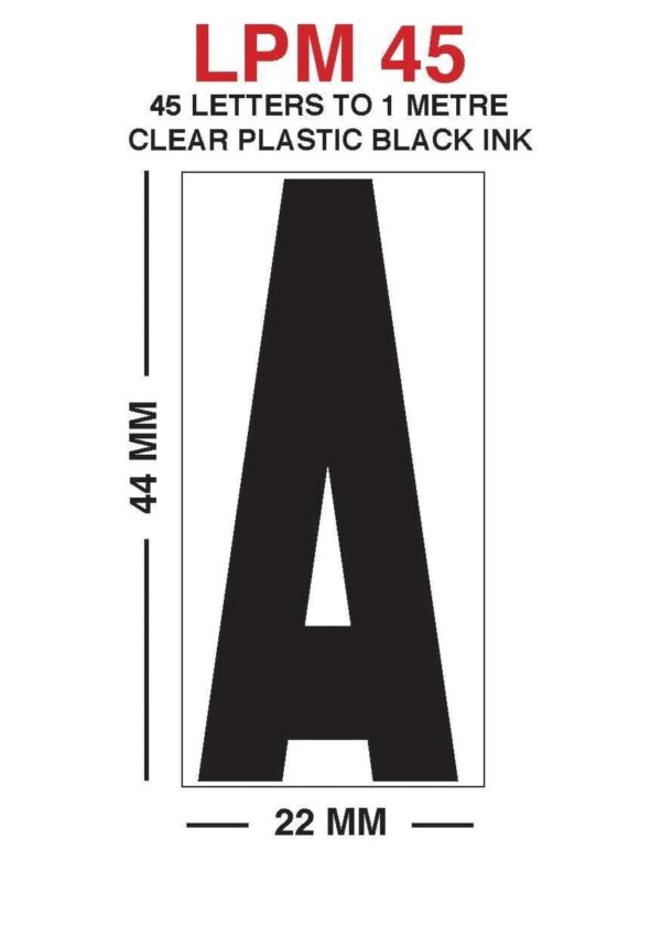 LPM 45 clear letters are massive changeable letters, used to produce american style signs, meaning you are able to change the sign