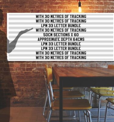 letterboard Sign kits with letters | 1 set of LPM 22 with 6 Metres of tracking. Our pre-packed bundles make buying letters and tracks even simpler.