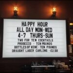 bar changeable beer sign