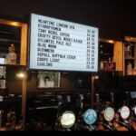 illuminated beer menu board with changeable letters