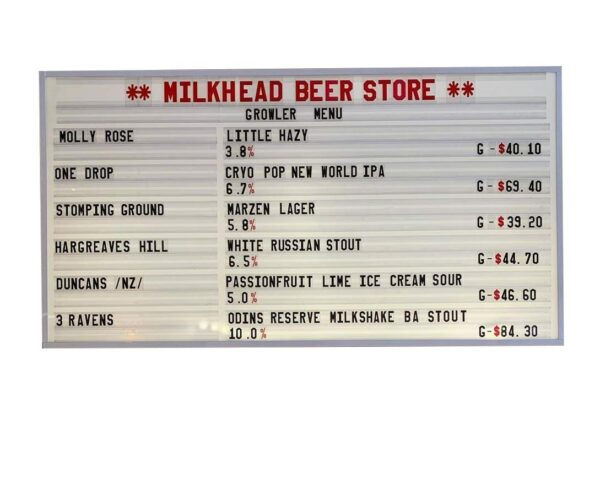 Tap Room Changeable Sign Board for Beer Menus