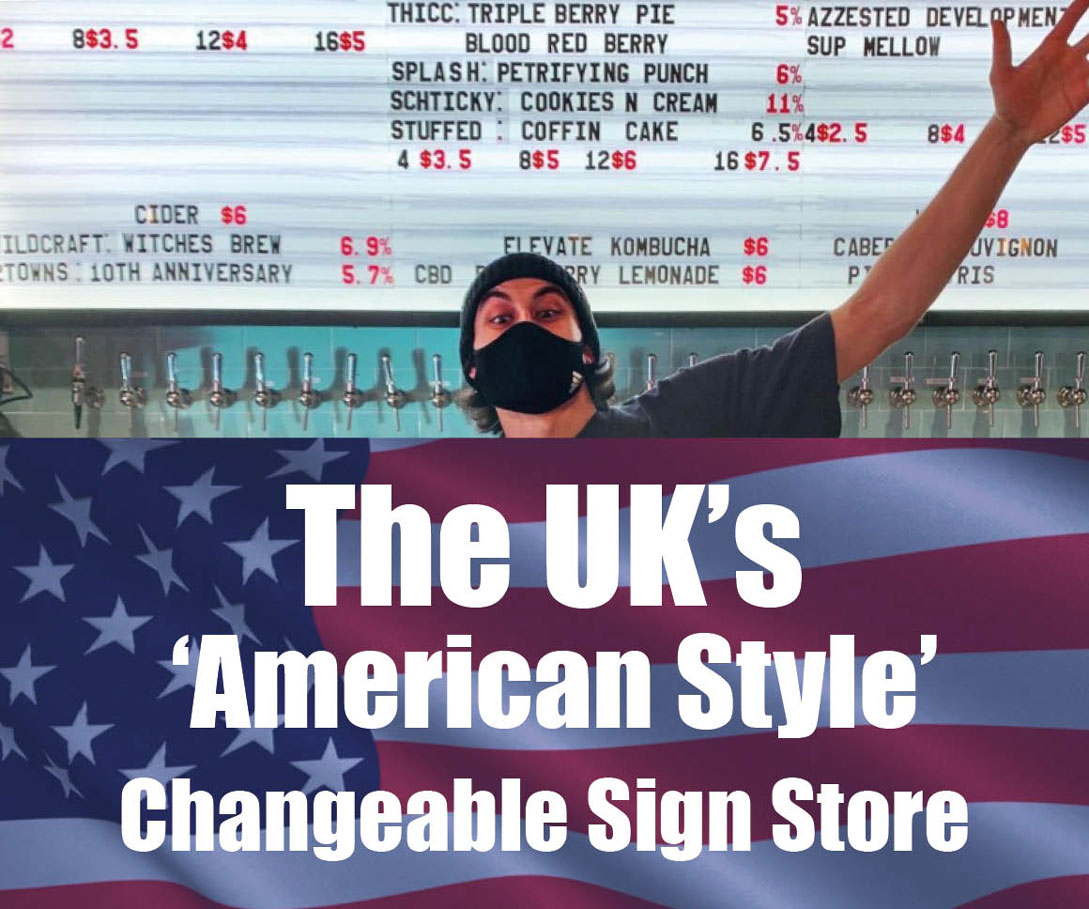 American Style Changeable Signs for THe World's Hospitality & Sports